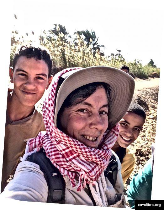 Judith Bunbury fait la fête en Egypte
