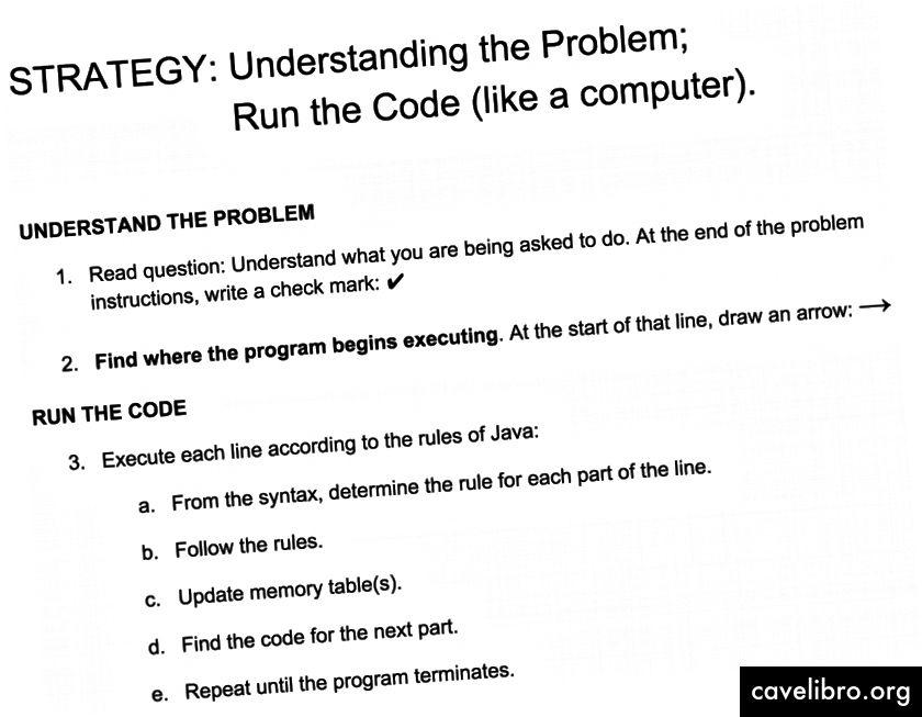 En étant encouragés à tracer ligne par ligne, les novices ont une approche générale pour résoudre tout problème de traçage de code.