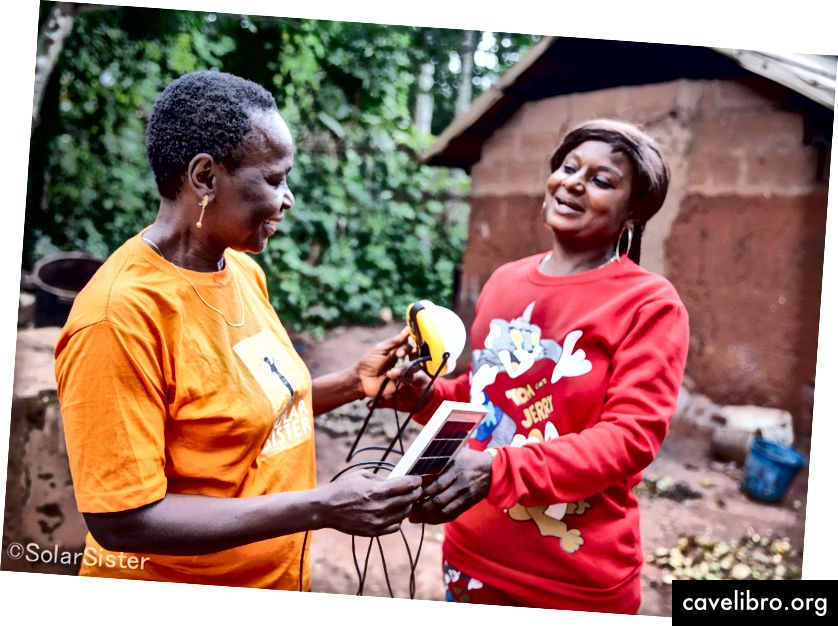 Solar Sisterin naiskeskeinen jakeluverkko on toimittanut aurinko- ja puhtaan ruoanlaittoratkaisuja yli miljoonalle edunsaajalle Tansaniassa, Nigeriassa ja Ugandassa.