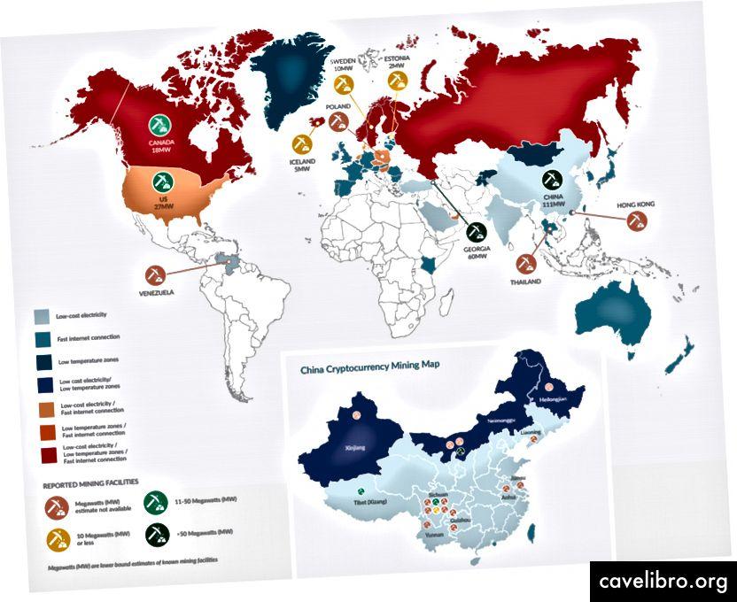 Bản đồ Cơ sở Khai thác (tín dụng cho nghiên cứu Điểm chuẩn Tiền điện tử Toàn cầu Cambridge)