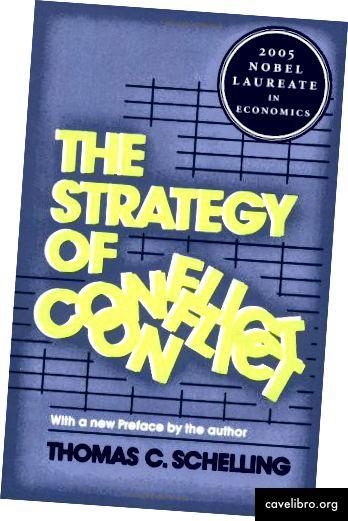 La stratégie de conflit. Publié à l'origine en 1960, ce livre a été le premier à étudier les négociations et les comportements stratégiques en situation de conflit. Dans ce livre, Schelling a introduit le concept de point focal, que beaucoup de gens connaissent aujourd'hui sous le nom de Schelling Point.