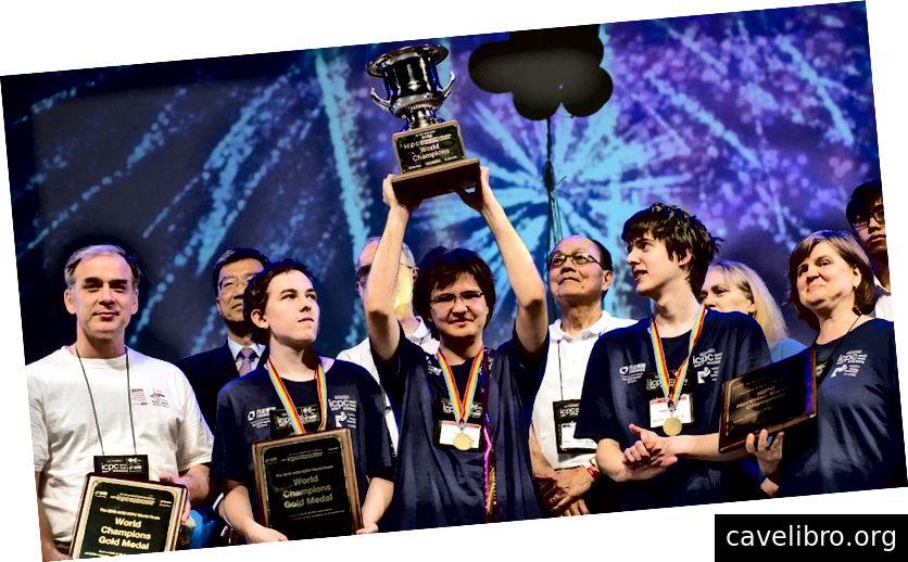 रूसी प्रोग्रामरों के बारे में एक लेख जो अंतर्राष्ट्रीय प्रोग्रामिंग चैंपियनशिप जीत रहे हैं