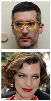 एक प्रतिकूल चश्मा (शीर्ष) पहने हुए एक व्यक्ति को मिली जोविच (नीचे) (शरीफ और अन्य।, 2016) के रूप में बड़े पैमाने पर गर्भपात किया जाता है।
