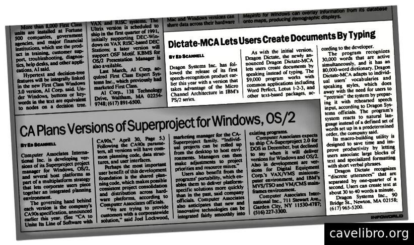 November 1990, Infoworld
