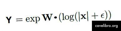 ऊपर दिखाए गए जटिल एनएसी का आउटपुट समीकरण। एप्सिलॉन यहां प्रशिक्षण के दौरान लॉग (0) की स्थिति से बचने के लिए एक बहुत छोटा मूल्य है