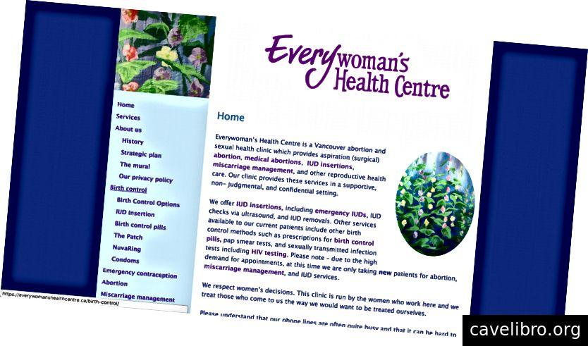 Zrzuty ekranu z istniejącej strony internetowej