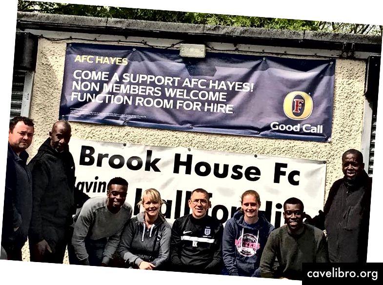 Brook House FC, prvi navadni klub, ki je Flair povabil na poletni turnir