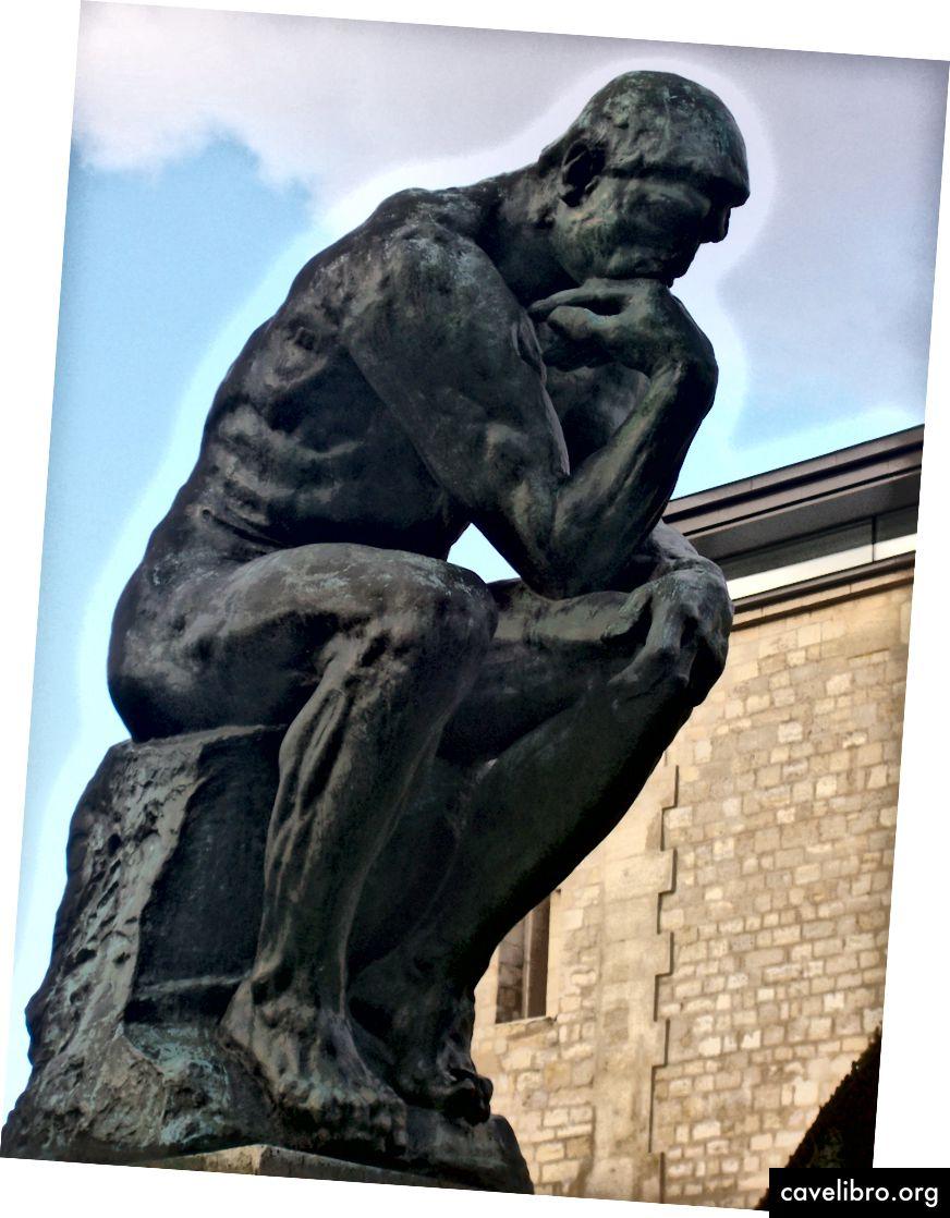 Откривши да су након гледања Родинове скулптуре Мисли, људи постали мање религиозни не могу се копирати.