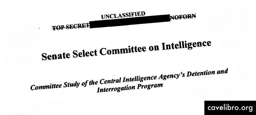 SSCI: n tiivistelmän otsikkosivulta CIA: n pidätys- ja kidutusohjelmasta
