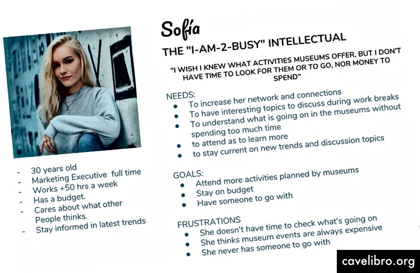 Sofía, la personne de ce projet