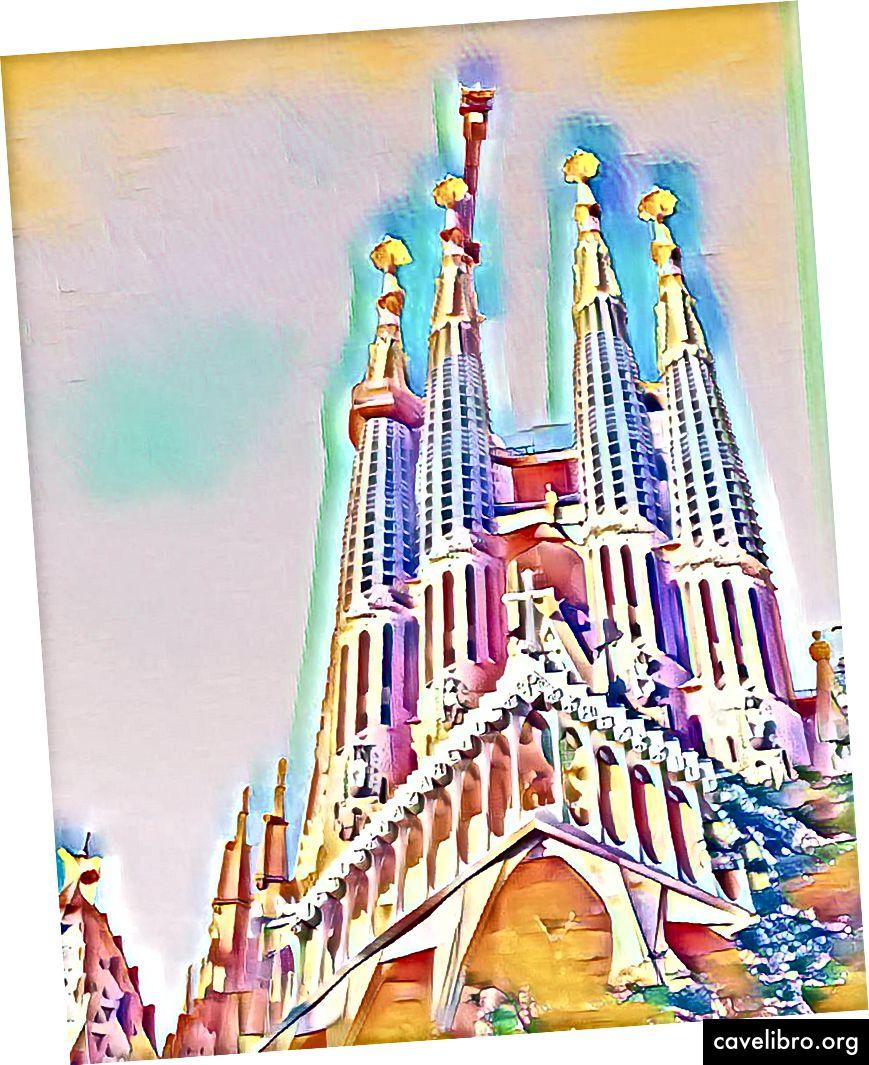 """Sagrada Familia + DeepArt = PSYCHADELIC af !!!"