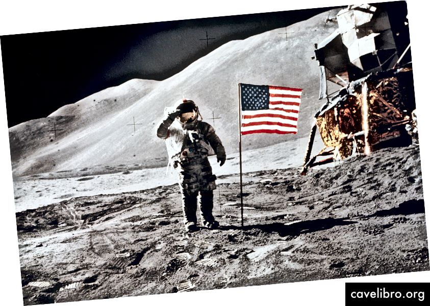 L'astronaute David Scott à bord de la mission Apollo 15, le 1er août 1971. Photo: NASA / JSC