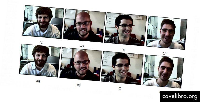 Des sourires de frustration ou de joie? Crédit: Hoque et al.