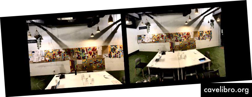 इस परियोजना में बहुत सारे भूरे रंग के कागज और पोस्ट नोट शामिल थे