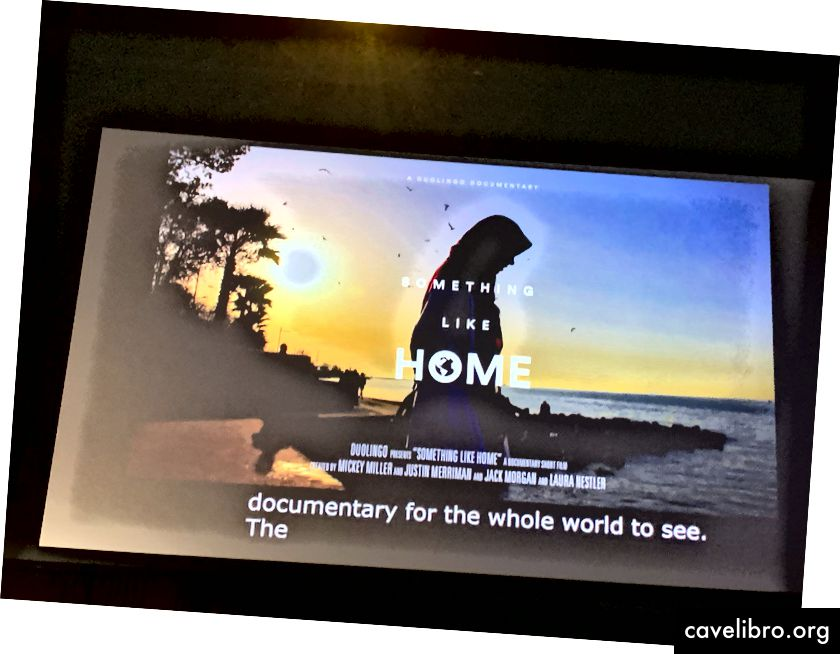 Dokumentarni film, ki ga je ekipa posnela, da ponazori, kaj se je naučil