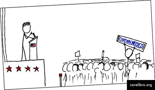 """""""Un manifestant wikipédien"""" demandant une citation, source: XKCD"""