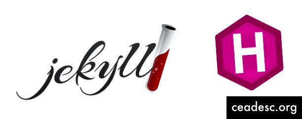 Jekyll- ja Hugo-logot.