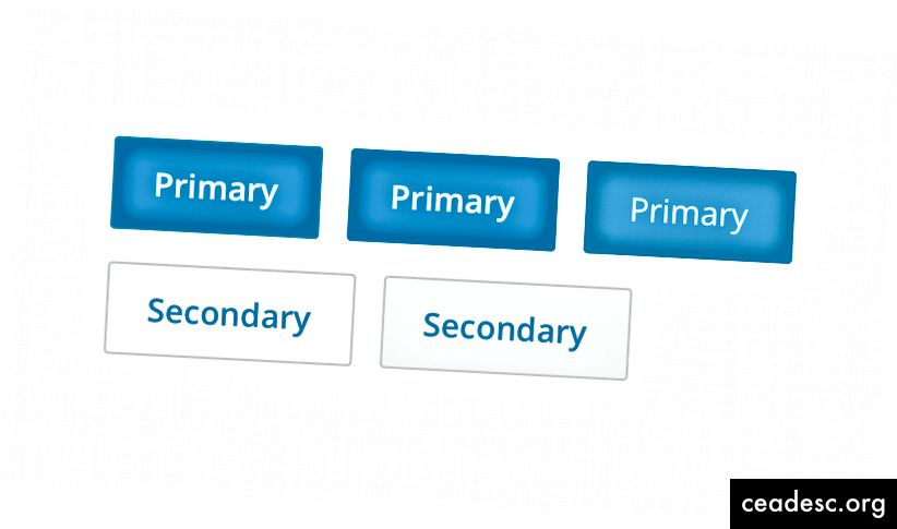 Mygtukai atrodo skirtingai nei iš atskirų dizainerių tyčiojimų, tiek iš mūsų programų.