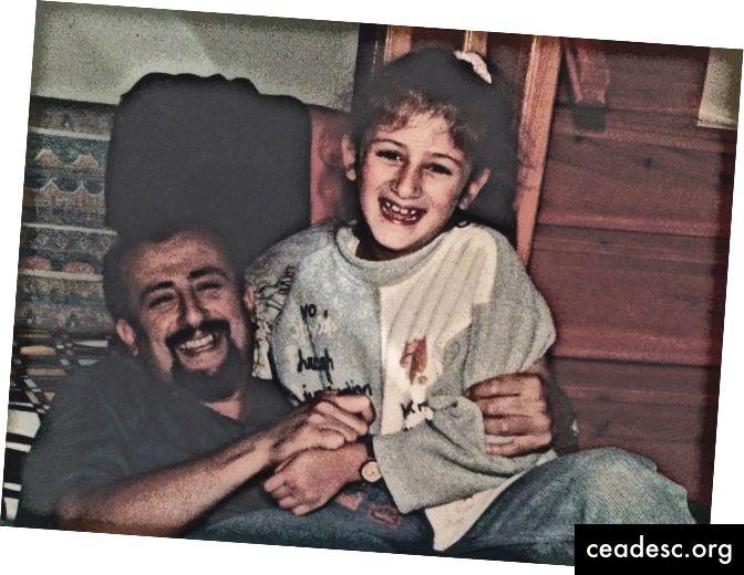 naeratus silmadega (mina ja mu isa umbes 1996)