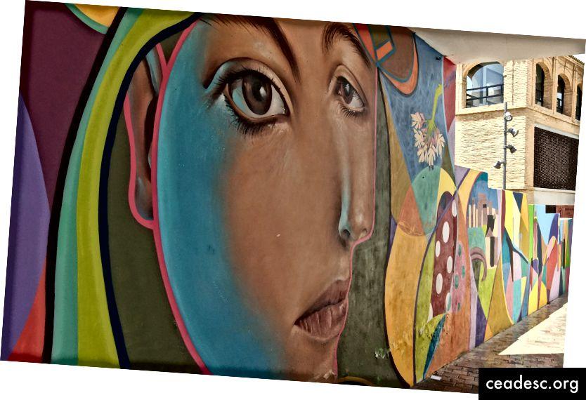Pilt, mille tegin Malagas (Hispaanias), Picasso linnas, See on väga kena maal, mis pakub inspiratsiooni värvide jaoks