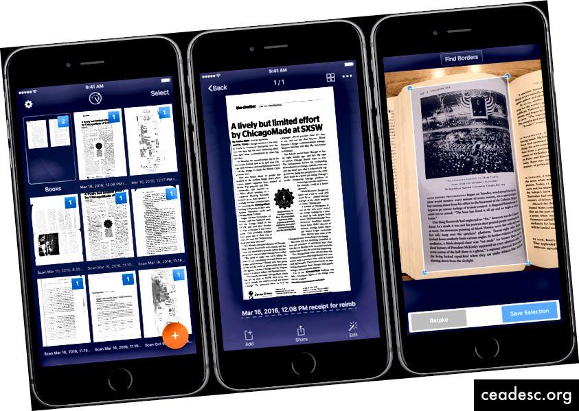 Rocketbook peut faire ce que le scanner traditionnel a du mal à résoudre en corrigeant les distorsions et en améliorant automatiquement le texte (image à partir de https://www.macstories.net/reviews/scanner-pro-7-adds-ocr-and-workflows/)