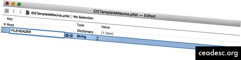 Tapez FILEHEADER comme nom de clé pour faire référence au texte placé en haut de chaque nouveau fichier.