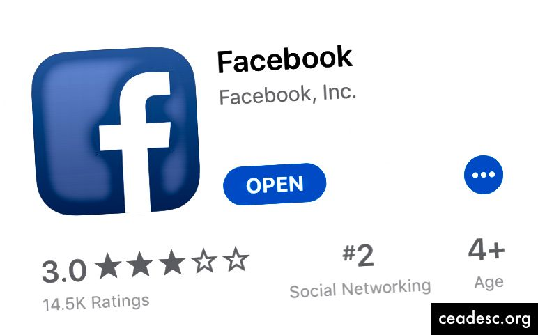 Facebook iOS 11 App Store'is