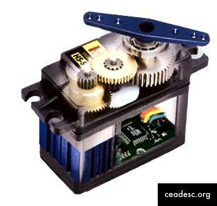 Servomotores En la segunda imagen, este servomotor tuvo la amabilidad de mostrarnos su interior. (fuente 1, fuente 2)