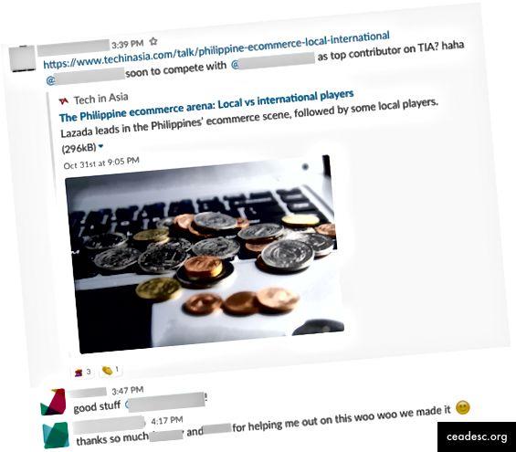 El equipo de iPrice Content Marketing celebra el primer artículo en TechInAsia de nuestro nuevo carpintero