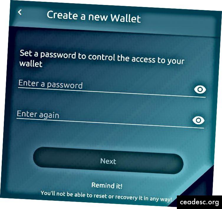 Eidoo wallet: como crear tu contraseña
