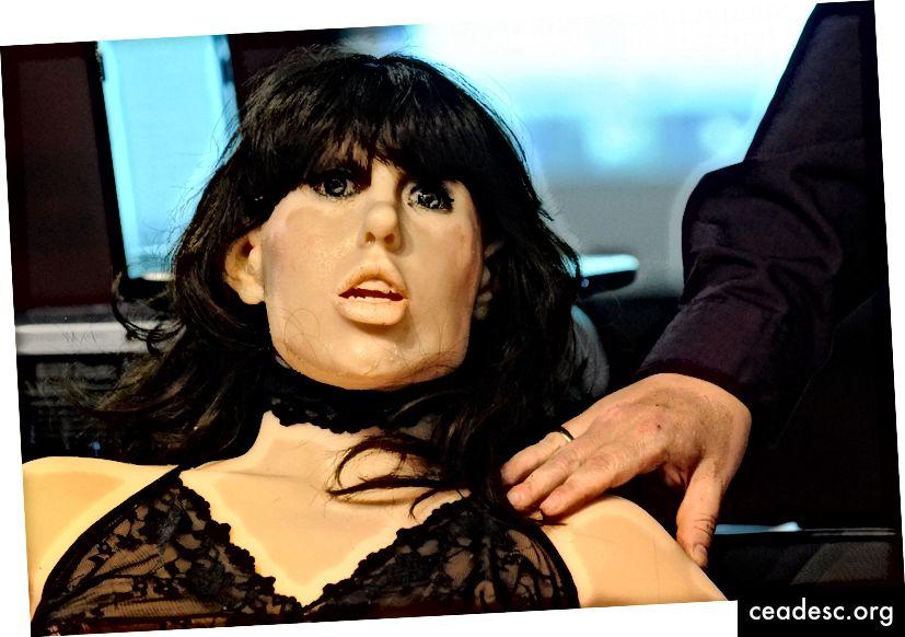 Roxxxy esines 2010. aasta AVNi täiskasvanute meelelahutusnäitusel. Foto autor: Ethan Miller / Getty Images.