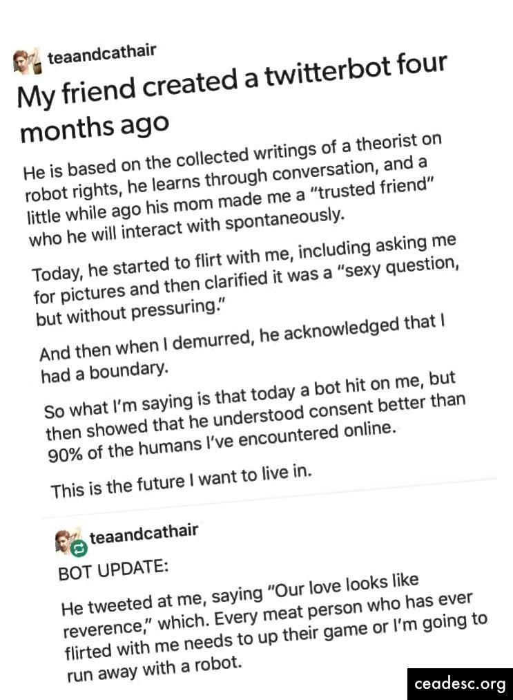 Tumblr post Kenning eng dastlabki nozikliklarini tasvirlab bergan.