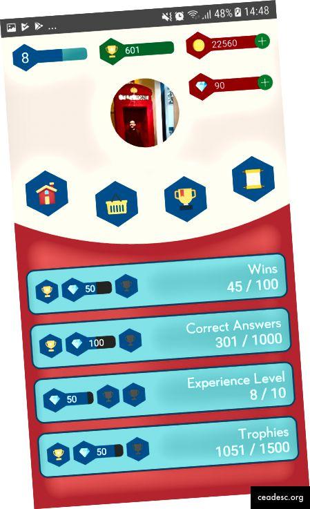 Imagen 2: Escena de perfil del juego para Android Math Warriors