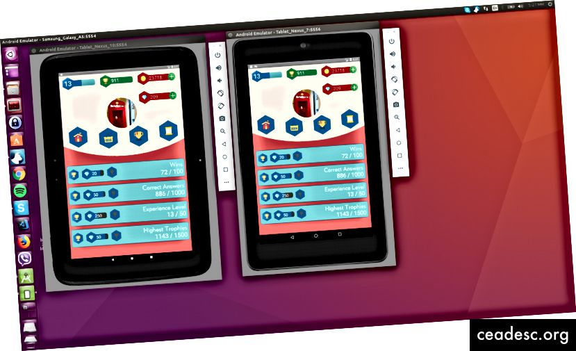 Pilt 6: Profiilivaade erineva pikslitiheduse, mastaabiteguri jms tahvelarvutites