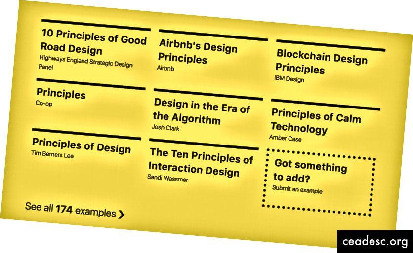 Útil para ti, pero no para tu CEO. https://principles.design/