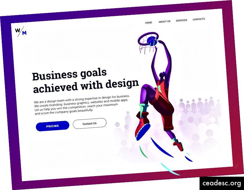 Pagina de destinație a agenției digitale