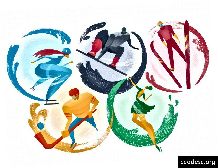 Ilustrația Olimpiadei de iarnă