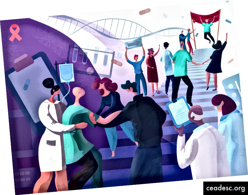 Illustration de la journée mondiale contre le cancer