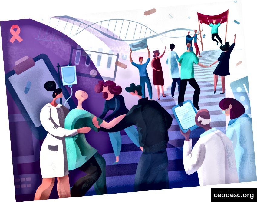 Ilustrație de Ziua Mondială a Cancerului