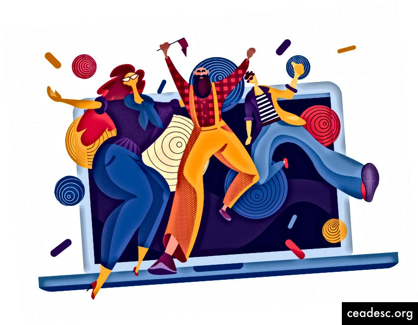 Ilustrație de petrecere de proiectare