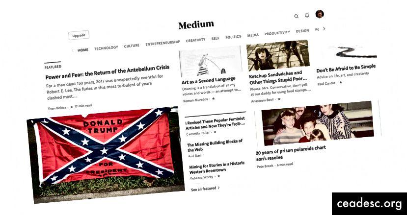 S takovou domovskou stránkou, jako je tato, proč by se konzervativní připojil k médiu?