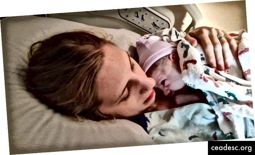 Hetked pärast minu poja sündi. Sürrealistlik tunne. Olin šokeeritud, kuid õnnelik.
