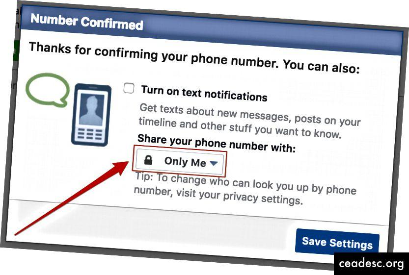 En caso de duda, configure todos los ajustes para compartir de Facebook en
