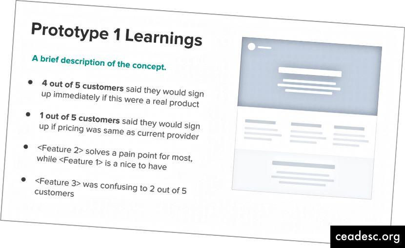 """Nii palju kui võimalik, teatage inimeste arvust, kes jagasid sama tagasisidet, et selle olulisust teatada. Näiteks """"4 klienti viiest ütles, et nad registreeruvad""""."""