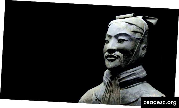 Estatua de Sun Tzu.