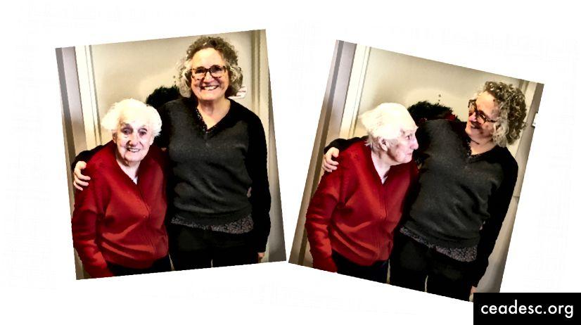 L'interaction sociale avec ma mère nous profite à tous les deux. Photo: Nancy Peckenham