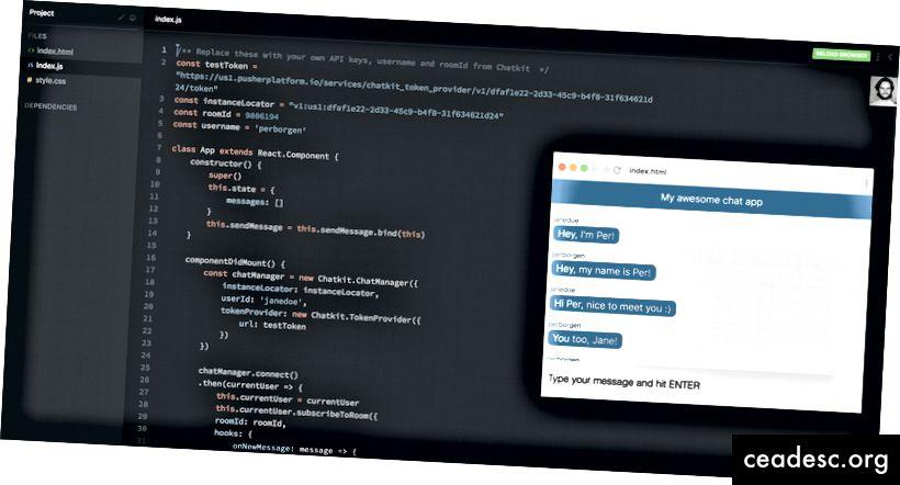 Haga clic en la imagen para experimentar con toda la base de código.
