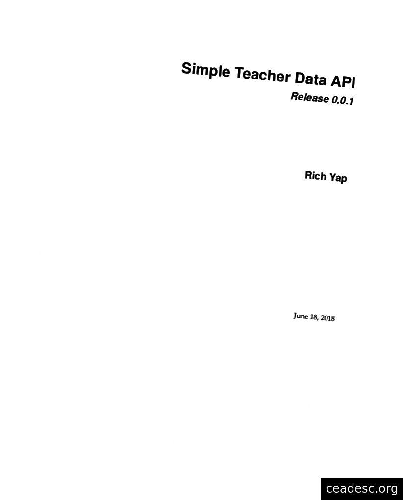 Página de título de la documentación.
