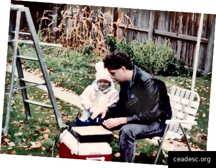 Mu isa ja mina 1989. aastal.