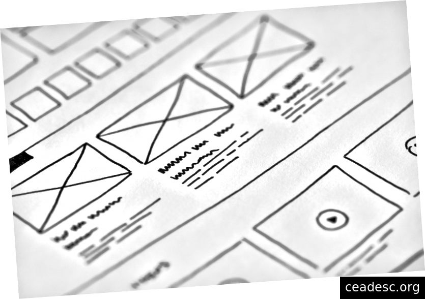 Wireframes могат да бъдат чудесни начини за прототип на потребителските потоци - www.pexels.com